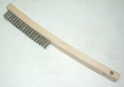Victor Firepower 1423-0082 Stainless Steel 14 Curved Wire Brush Wood Handle