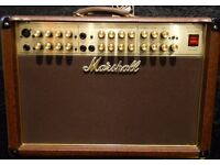 Marshall Acoustic Soloist AS80R guitar amplifier. Many features, spring reverb etc' VGC.