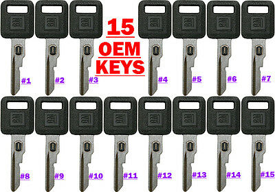 15 NEW GM FACTORY ORIGINAL VATS SINGLE SIDED KEY BLANKS 26019392 Thru 26019406