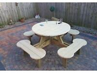 Round Picnic Bench 8 seater