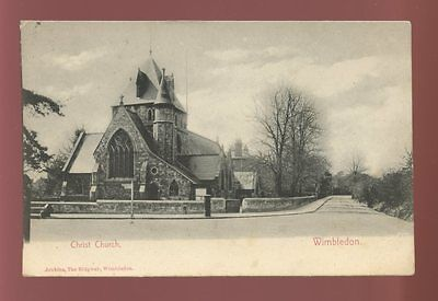 Surrey WIMBLEDON Christ Church Used 1906 PPC local pub Jenkins