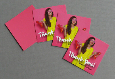 Mini 50/100 THANK YOU for ur purchase Message Cards fashion clothing USA - 100 Thank You Cards