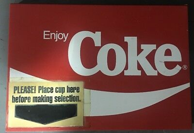 Rare Siemens Coke Coca Cola Breakmate Soda Dispenser Model 3450 Front Panel