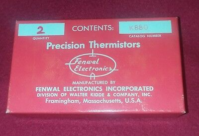 Precision Thermistors, Kidde Fenwal Electronics K880  Set of 2 - (New Old Stock) Fenwal Electronics
