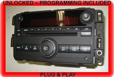 (PLUG&PLAY OEM 07-08-09 GMC Acadia CD Radio MP3/Aux/Ipod input -UNLOCKED)