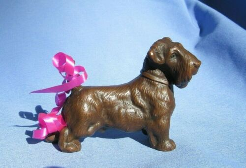 "BRONZE SEALYHAM CESKY  TERRIER 4"" JB DOG JENNINGS BROTHERS"