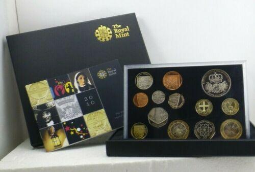 2010 British Royal Mint Thirteen Coin Proof - Brilliant - Uncirculated COA