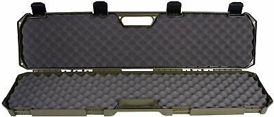 "Tactical Hard Rifle Case Gun Storage 2 Rifles Guns 42"" Green"