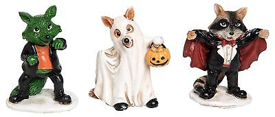 Miniature Fairy Garden Halloween Dogs in Costumes - Set of 3 - Buy 3 Save - Buy Dog Costumes