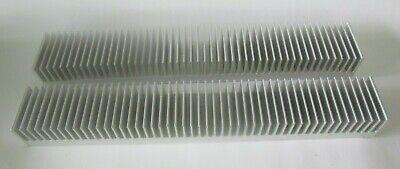 Lot Of 2 Large Aluminum Heat Sink Approx 18 X 2 34 X 2 - Total 9lb 9oz