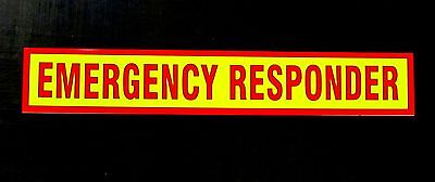 Emergency Responder Sign Reflective Self Adhesive Signage