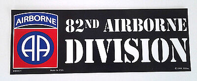 82ND AIRBORNE DIVISION  Military Veteran US ARMY Bumper Sticker BM0015 EE