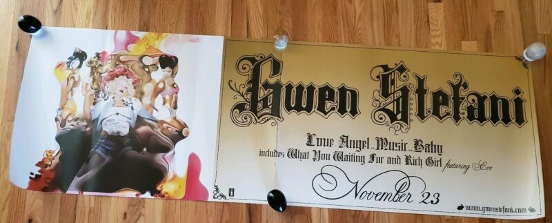 GWEN STEFANI - Love Angel Music Baby Record Release Poster 2003