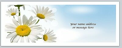 Personalized Address Labels Pretty Daisies Flowers Buy 3 Get 1 Free C 817