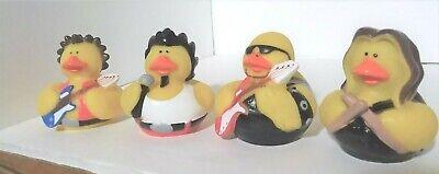 Mini Rubber Duckies (UNIQUE Rubber Mini Duckie Lot of 4 - ROCK BAND!  assort)