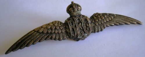 RFC - ROYAL FLYING CORPS - PILOT WINGS - RARE - 3 3/4""
