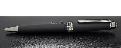 NEW Mont Blanc Meisterstuck Ultra Black Matte Mid-Size Ball-Point Pen 114825