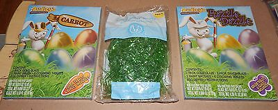 Easter Kids Crafts Easter Egg Decorating Kits 2ea & Grass Dudley's Carrot 113X