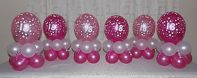 60th Birthday Balloon Decoration Display kit for 6 tables - Decorations For 60 Birthday