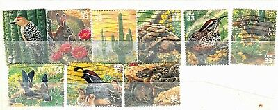 1999 SONORAN DESERT SHORT SET OF US COMMEMORATIVE STAMPS - USED