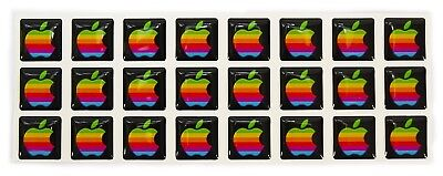 Rare Domed RETRO Apple MacBook Pro Air iPad iPhone Rainbow Sticker Decal Logo, used for sale  Shipping to India