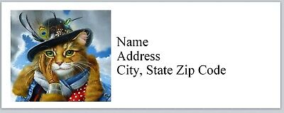 Personalized Address Labels Cat Dressed Up Buy 3 Get 1 Free Bx 611