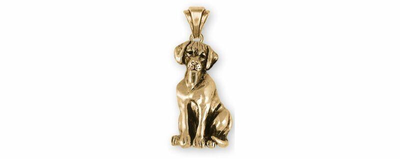 Rhodesian Ridgeback Jewelry 14k Gold Vermeil Handmade Rhodesian Ridgeback Pendan