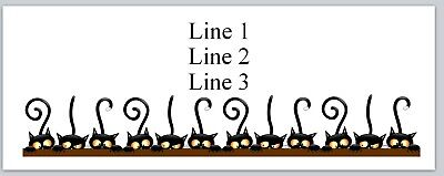 Personalized Address Labels Cats Halloween Buy 3 Get 1 Free Bx 218