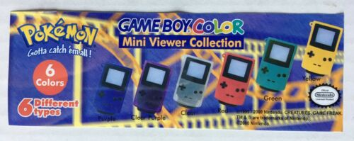 Pokemon Game Boy Mini Viewer Keychains LOT OF 6 Tomy Gacha Nintendo Toy Capsules