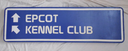 Rare Epcot Entrance Roadway or Walkway Sign Display Prop Walt Disney World