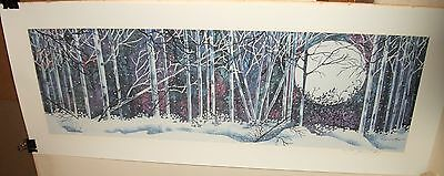 JEAN LOWRY WINTER LANDSCAPE LIMITED EDITION SIGNED LITHOGRAPH on Rummage
