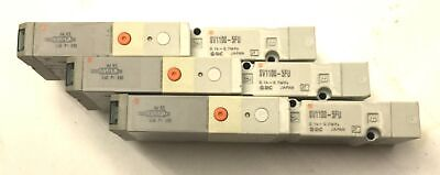 Lot Of 3 Smc Sv1100-5fu Pneumatic Solenoid Valves 0.15-0.7mpa Voltage 24vdc