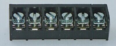 Rdi Terminal Block Strip 6 Pole Single Row 20 Amp 300 Volt