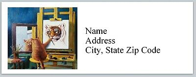 Personalized Address Labels Cat Believe In Yourself Buy 3 Get 1 Free Bx 609
