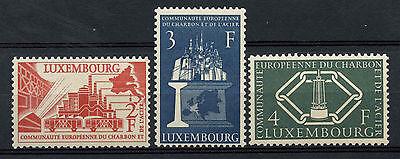 Luxembourg 1956 SG#606-8 Coal & Steel Community MNH Set Cat £80 #A62728
