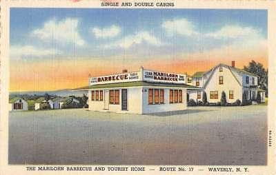 Waverly New York Marilorn Barbecue Tourist Home Antique Postcard K83120