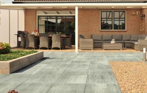 Grijze Tegels Tuin : ≥ excluton terrastegels 60x60 cm grijs voor tuin tegels en