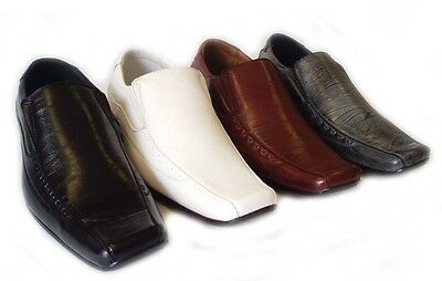 NEW MENS LEATHER DRESS SHOES LOAFERS SLIP ON COMFORT FREE SHOE HORN / 4 Colors