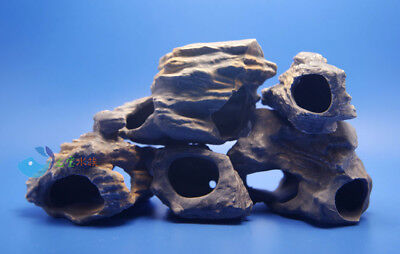 Lots 5 pcs MF CICHLID STONE Ceramic Aquarium Rock Cave decor for Fish Tank AK568