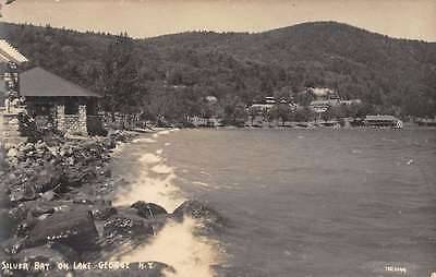 Lake George New York Silver Bay Real Photo Antique Postcard K22472