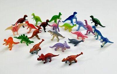 24 Dinosaurier Dino ca. 7 cm groß bunt Farben Mitgebsel Kindergeburtstag Neu