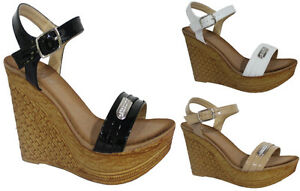 LADIES-DIAMANTE-DETAIL-HIGH-WEDGE-HEEL-PLATFORM-PEEP-TOE-ANKLE-STRAP-SANDALS-3-8