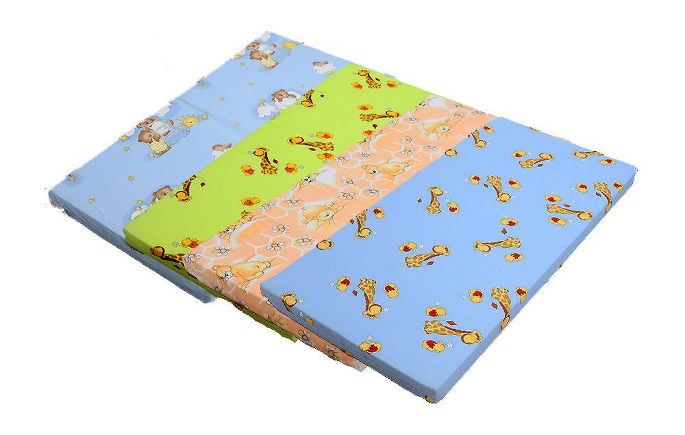 Kinderbettmatratze 60x120 cm 5 cm Kinder-Rollmatratze  Babymatratze BAUMWOLLE