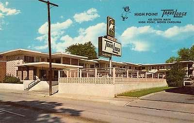 High Point North Carolina Travelodge Street View Vintage Postcard K55063