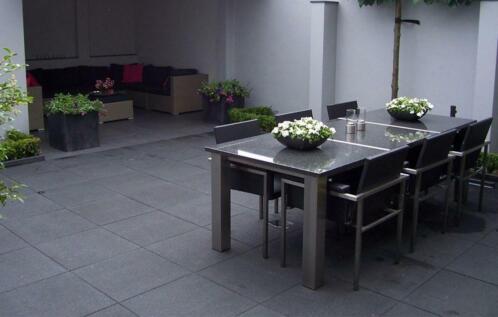 Tuin Tegels Antraciet.Excluton Terrastegels 60x60 Cm Antraciet Voor Tuin Tegels En