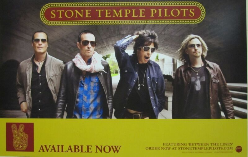 STONE TEMPLE PILOTS 2010 STP 2 sided promotional poster Flawless New Old Stock