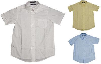 French Toast School Uniform Big Boys Husky Short Sleeve Poplin Dress Shirt Boys School Uniform