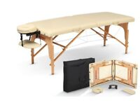 BodyChoice Lightweight Cream Portable Massage Table With Free Carrying Case