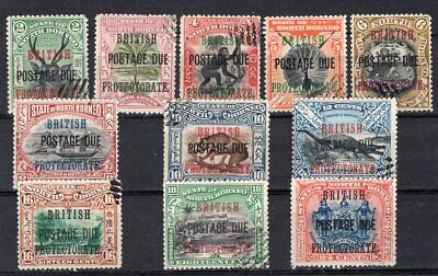 BRITISH NORTH BORNEO 1903/11 POSTAGE DUE STAMP Sc. # J 21/31 USED
