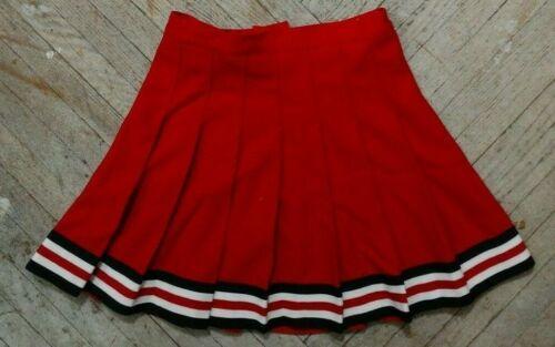 NEW High School Varsity Cheer Red White Black REAL Cheerleading Uniform Skirt